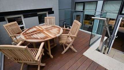 Terrace accessed from both bedrooms