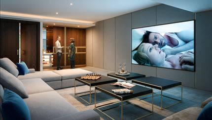 Cinema room available to all residents