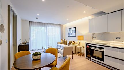 Typical open-plan living area